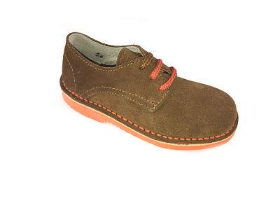 Zapato  blucher en serraje