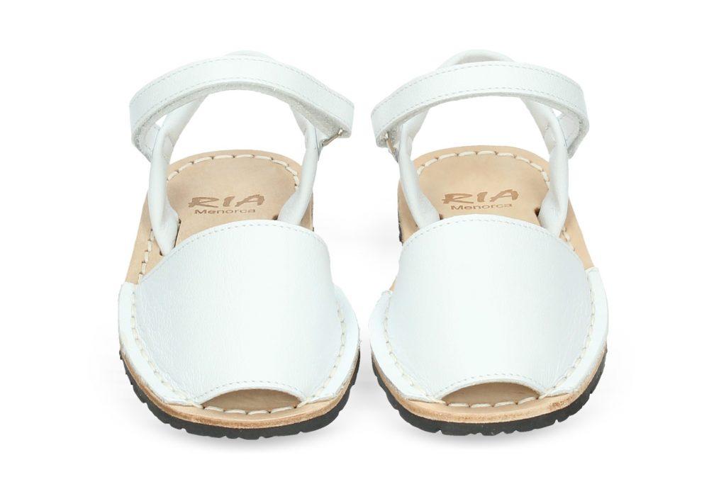 imagen 1 de Menorquina con Velcro Piel Blanco