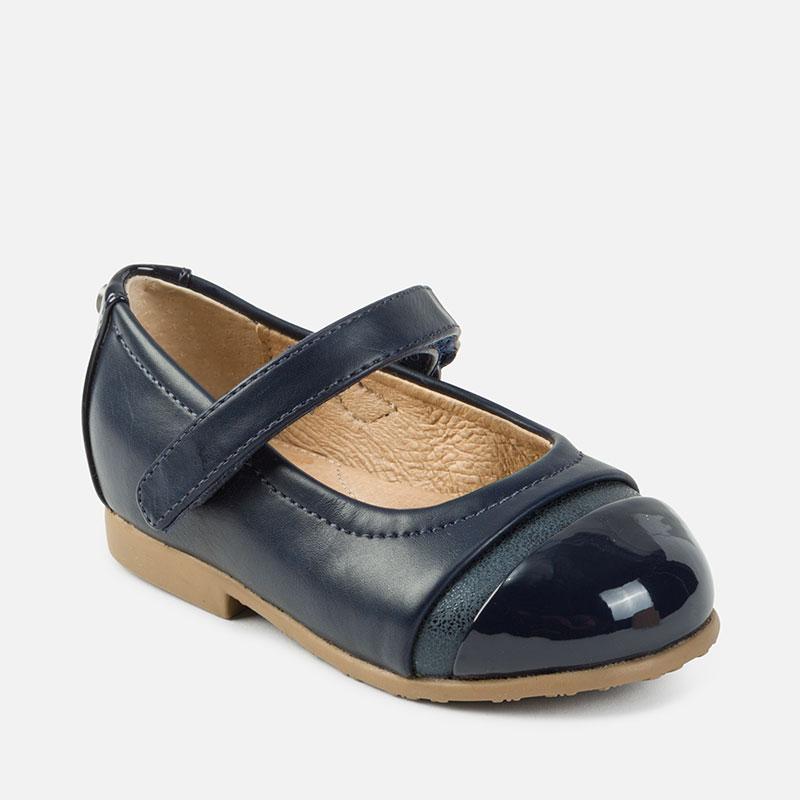 Zapato Mercedita para Bebé niña Azul Marino