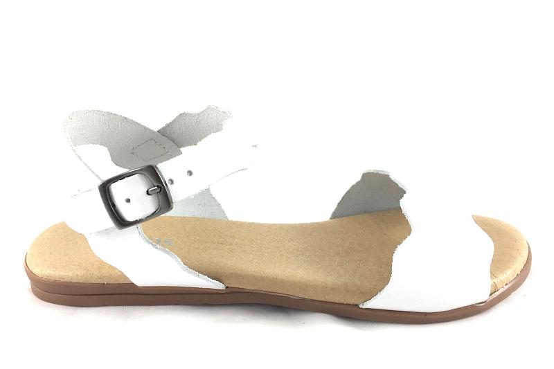 imagen 0 de Sandalia Ondas en Piel Blanco