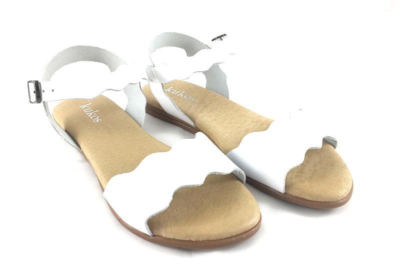 imagen 1 de Sandalia Ondas en Piel Blanco