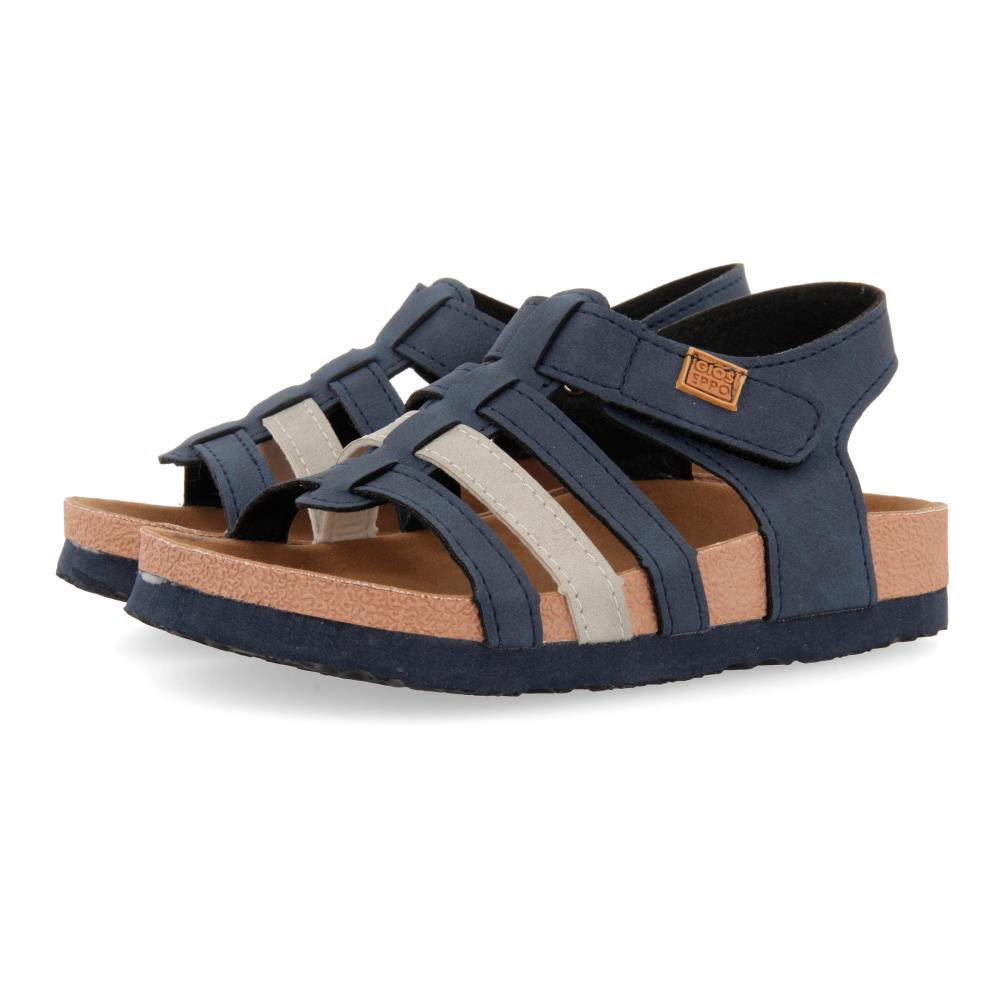 Sandalia Bio con Velcro Marino