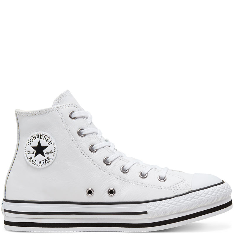 All Star Bota doble suela Blanco en Piel