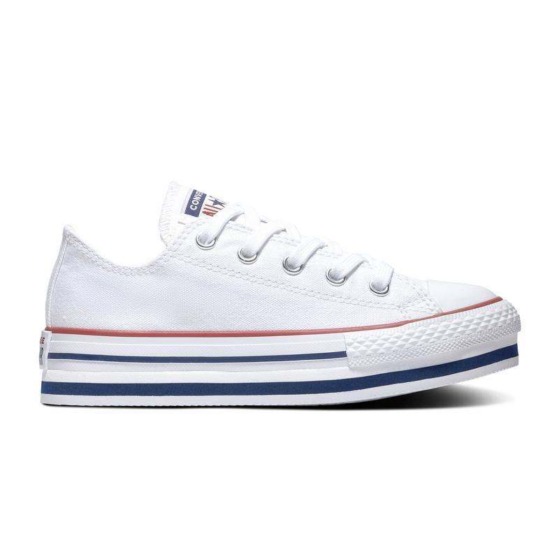 Converse All Star lona plataforma White