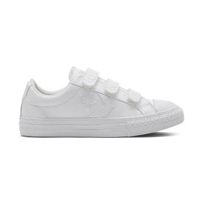 CONVERSE STAR PLAYER VELCRO PIEL BLANCO